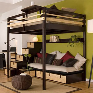 hochbett f r erwachsene gro er vergleichstest 2018. Black Bedroom Furniture Sets. Home Design Ideas