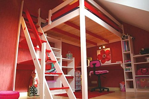 140x200 hochbett sylvia hochbett f r erwachsene. Black Bedroom Furniture Sets. Home Design Ideas