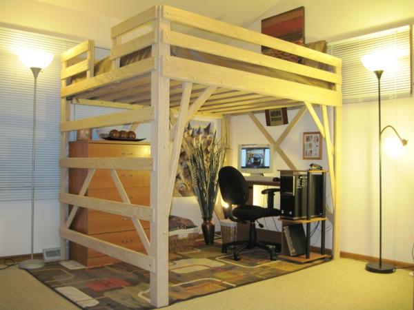 hochbetten erwachsene hochbett holz hochbett f r erwachsene. Black Bedroom Furniture Sets. Home Design Ideas