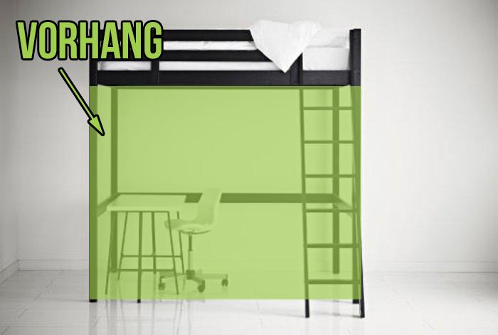 Vorhang Für Etagenbett : Vorhang für hochbetten anleitung und kaufberatung
