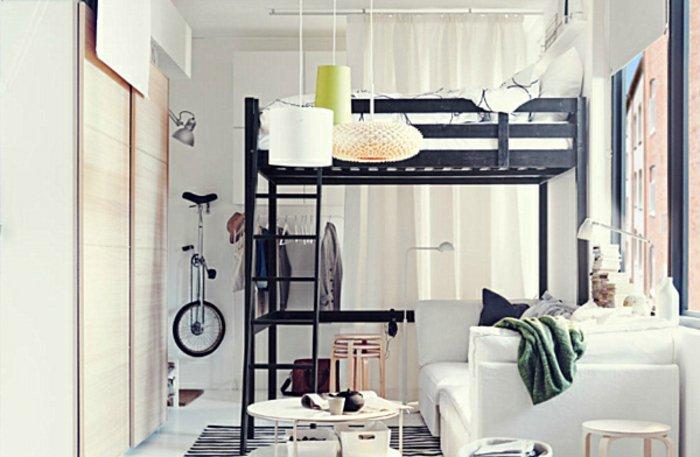 Hochbett erwachsene mit schrank  Breites Hochbett Für Erwachsene. schlafzimmer mit einem selber ...