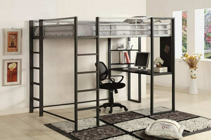 Queen Loft Bed With Desk