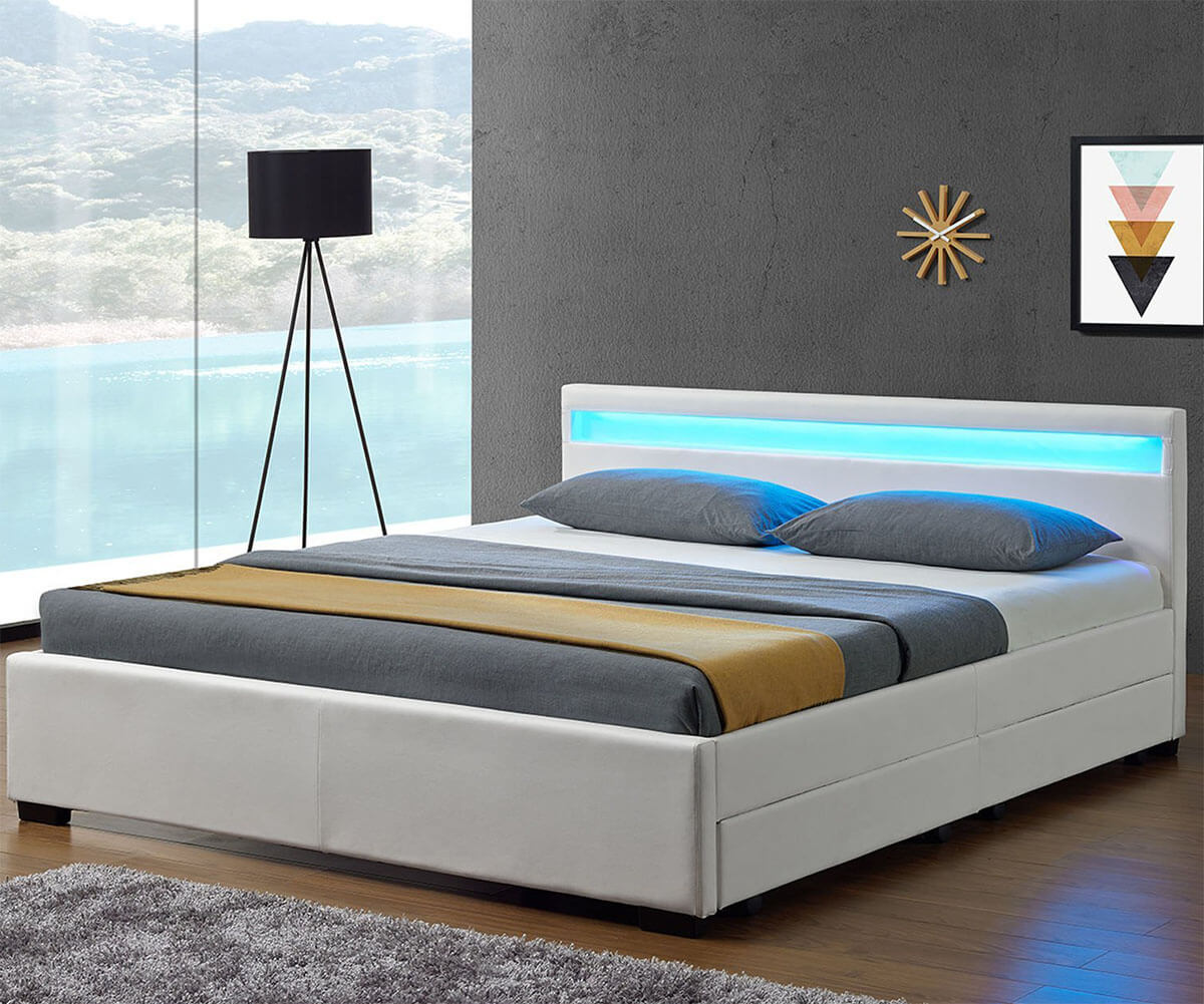 funktionsbett 140x200 lyon hochbett f r erwachsene. Black Bedroom Furniture Sets. Home Design Ideas